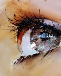 Another great eye painting by Pavel Guzenko and if you look closely, you can see. - Another great eye painting by Pavel Guzenko and if you look closely, you can see the buildings refl - Art And Illustration, Art Illustrations, Art Amour, Fine Art, Painting & Drawing, Painting Tips, Oil Painting For Beginners, Figure Drawing, Building Painting