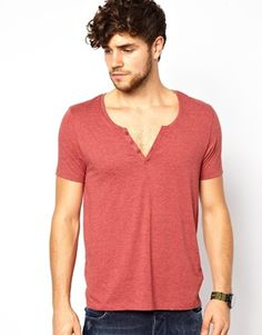 Image 1 of ASOS T-Shirt With Scoop Notch Neck