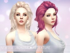 Emma's Simposium: Free Sims 4 Hair Pack #042 by Jackdaw by Newsea (J...
