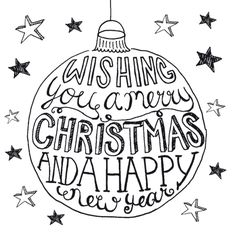 Wishing you a merry Christmas and a happy new year Doodle Lettering, Brush Lettering, Typography, Xmas Cards, Diy Cards, Chalk Marker, Christmas Time, Christmas Crafts, Karten Diy