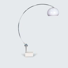 DUTCH ARCO PLEXI LAMP WITH MARBLE BASE, line Spectacular Arco lamp with Marble base. An iconic statement piece that brings sophistication to any living space. Complete with perfect curves and a solid marble base.