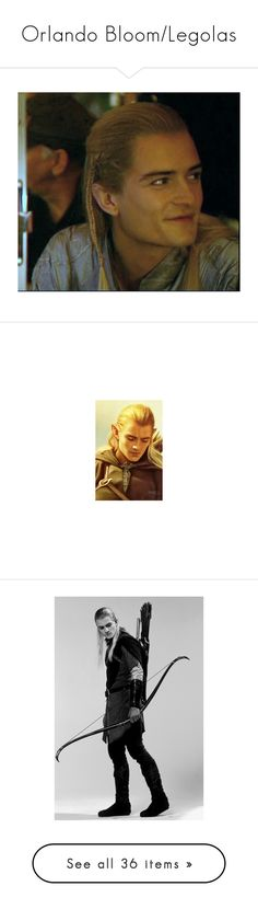 """""""Orlando Bloom/Legolas"""" by imawkwardhey ❤ liked on Polyvore featuring hobbit/lotr, lord of the rings, fandoms, legolas, lotr, pictures, jewelry, rings, star jewelry and star ring"""