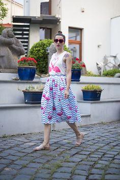 Skinny Buddha Flamingo top skirt