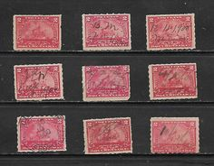 US Date OLD Revenue lot 9 - Battleship 2c, Documentary stamps USED NO RESERVE