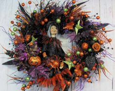 Popular items for witch wreath on Etsy