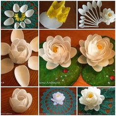 How to DIY Waterlily Flower from Plastic Spoon » Cool Creativity
