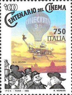 Italy Stamp 1995- Centenario del Cinema Cinecitta