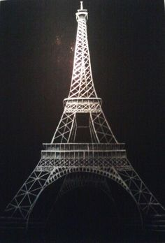 Eiffel Tower Scratch Art