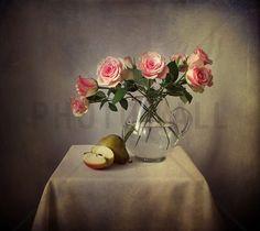 Still Life with Roses - Wall Mural & Photo Wallpaper - Photowall