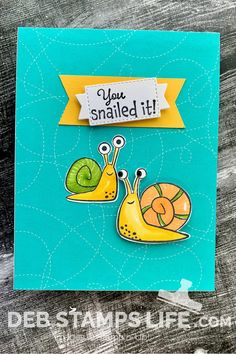 Snail Cards, Animal Cards, Creative Crafts, Diy Cards, Stampin Up Cards, True Love, Card Making, Rubber Stamping, Snail Mail