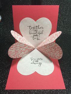 Best 10 Valentine Pop Up Card Pop Up Valentine Cards, Valentines Day Cards Handmade, Valentines Diy, Pop Up Card Templates, Card Making Templates, Thank You Cards From Kids, Kids Cards, Pop Out Cards, Karten Diy