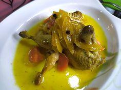 Las cositas de Meri: Codornices en escabeche Meri Sin Gluten, Thai Red Curry, Ethnic Recipes, Food, Chicken, Recipes, Orange Leather, Ethnic Food, Birds