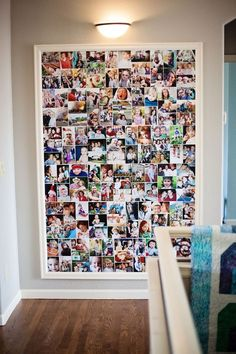 fotowand selber machen fotokollage basteln farbbilder fotos make a photo wall yourself photo collage