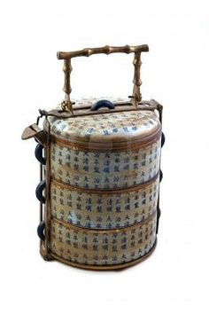 Antique bento box.  Would you take your lunch to work in this?