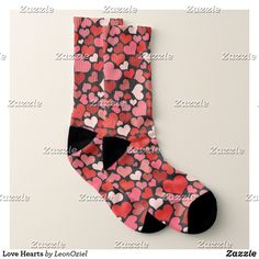 Shop Love Hearts Socks created by LeonOziel. Crew Socks, Love Heart, Special Day, Your Design, Art Pieces, Hearts, Valentines, Comfy, Accessories