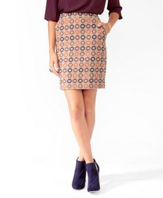 Forever21 Retro Pattern Skirt