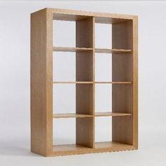 Sherwood Oak 4 Cube Unit