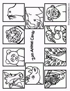 Zoo Animal Coloring Cards
