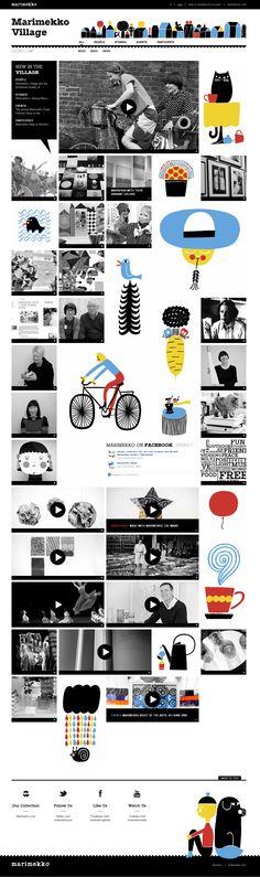Web design - marimekko : village