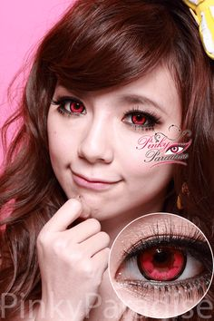 Vassen Cloud Nine Red Circle Lenses (Colored Contacts)