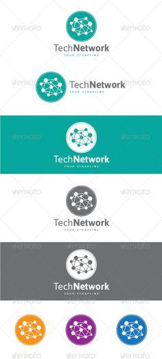 Tech Network - Logo Design Template Vector #logotype Download it here: http://graphicriver.net/item/tech-network-logo/7514747?s_rank=607?ref=nexion