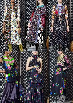 02-duro-olowu-aw1617 - Simple Hand Marks – Mosaic Prints – Clashing Print Combos – Skin and Print Texture – Dots and Dashes – Brash Vintage Style – Ecentric Hotposh Patterns – Floral Clustered Sprays – Bold Colour