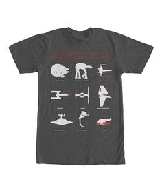 Look what I found on #zulily! Charcoal Heather Star Wars Ship Silhouette Tee - Men's Regular by Star Wars #zulilyfinds