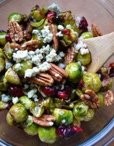 Pan-Seared Brussels Sprouts with Cranberries & Pecans | FoodiBank