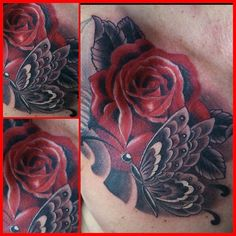 See more tattoo ideas on http://tattoosaddict.com/red-roses-with-grey-butterfly-tattoo-ideas-068.html Red Roses With Grey Butterfly Tattoo Ideas #068 - http://goo.gl/REBPLQ #068, #Butterfly, #ButterflyTattoo, #ButterflyTattooDesign, #ButterflyTattooIdeas, #ButterflyTattoos, #Grey, #Ideas, #Red, #Roses, #Tattoo, #TattooDesign, #TattooIdeas, #With