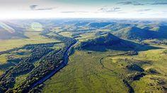 Valle del Lunarejo - Another aerial view Lunarejo Valley, Rivera Uruguay
