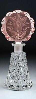 Czech Art Deco Cut Perfume Bottle C. 1930's. @designerwallace