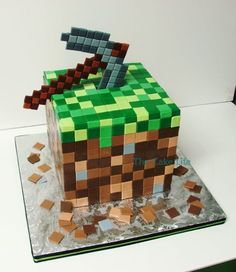 minecraft grooms cake - Google Search