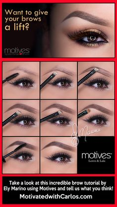 Want to give your brows a lift?  Take a look at this incredible brow tutorial by Ely Marino using Motives and tell us what you think! #Cosmetics #MakeUp #Eyebrows @Loren Cline Ridinger