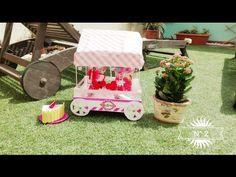 Carrito de chuches con caja de fresas #1, cart sweet, candy - YouTube