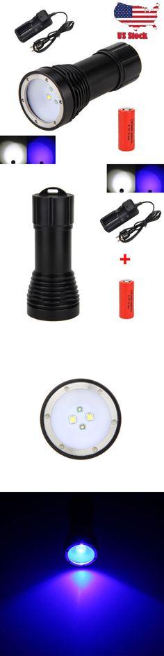 Lights 29575: Waterproof 100M 5000Lm 4X Xm-L2+2*Uv Led Scuba Diving 26650 Flashlight Torch -> BUY IT NOW ONLY: $60.59 on eBay!