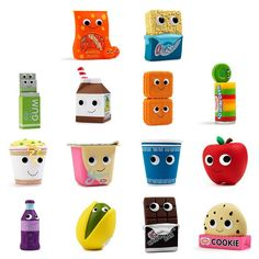 Yummy World Gourmet Snacks Vinyl Mini Series : Blind Box - myplasticheart Chewing Gum, Yummy World, Food Pillows, Vinyl Blinds, Food Fantasy, Cute Stuffed Animals, Food To Go, Red Apple, Some Fun