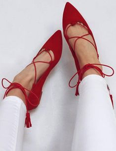 pointed ballet flats.