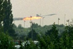 Concorde Crash  An investigation into the infamous Concorde disaster of 2000 concluded that a burst tyre caused by a metal strip on the runway was the cause of the disaster.  Debris from the puncture pierced the under-wing fuel tanks and started the fire that brought the plane down.   An similar accident had been identified since 1979, but the investigators had ruled out the speculations that poor maintenance had contributed to the tragedy which killed all 109 people.