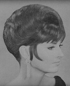 1960s Hair, Beehive Hair, Fluffy Hair, Retro Hairstyles, Curlers, Hairspray, Updos, Short Hair, Photoshop