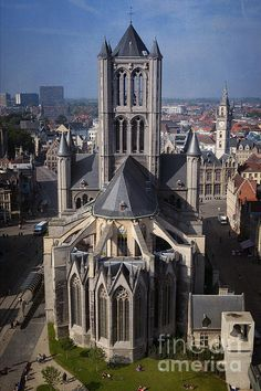 St Nicholas Church in Ghent Belgium, viewed from the Belfry. To view or purchase my prints, visit joan-carroll.artistwebsites.com iPhone covers can be purchased at joan-carroll.pixels.com THANKS!