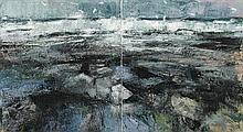 Donald Teskey RHA (b.1956) OCEAN FREQUENCY DIPTYCH, 2012
