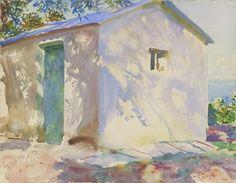 John Singer Sargent Watercolors - Corfu: Lights and Shadows 1909, 15 7/8 x 20 7/8