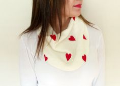 Hand Knitted Antibacterial Red Scarf, Gifts idea, Ivory Scarf, Lightweight Soft Handknit Valentines Day Gift by HeraScarf on Etsy https://www.etsy.com/listing/219389197/hand-knitted-antibacterial-red-scarf