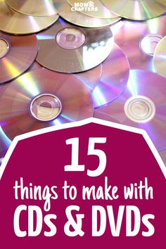 15 Amazing ways to recycle and craft with old CDs and DVDs! This is the best DIY… 15 Amazing ways to recycle and craft with old CDs and DVDs! This is the best DIY CD upcycling craft list I've seen Upcycled Crafts, Old Cd Crafts, Recycled Cds, Crafts To Make, Easy Crafts, Crafts For Kids, Creative Crafts, Recycled Decor, Diy Crafts With Cds