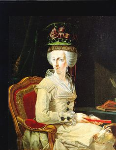 Archduchess Maria Amalia of Austria (26 February 1746 – 18 June 1804) sister of Marie Antoinette, Duchess of Parma and Piacenza, wife of Duke Ferdinand I. of Bourbon-Parma, with her dog...