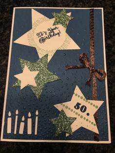 #stampinup, #Geburtstag, #50, #Sterne, #Kerzenstanze, #Birthday. #Cheerstotheyear