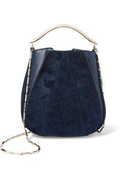 Eddie Borgo | Pepper Mini Pochette twill and textured-leather bucket bag | NET-A-PORTER.COM