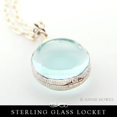 Sterling Silver and Glass Locket - Circle from www.anniehowes.com jewelry