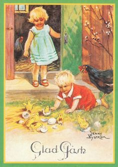 Jenny Nyström - Lapset katsovat tipuja. -