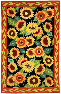 Amazon.com   Craftways Bright Sunflowers Latch Hook Kit | Sunflower Crafts  | Pinterest | Hooks And Sunflowers